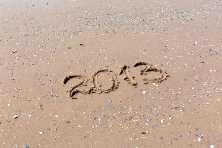 2013 Year written on the beach sand. Horizontal shot Stock Photo - 10871147