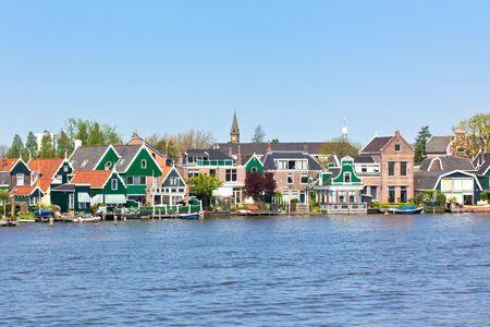 north holland: Dutch rural scenery, Zaanse Schans. Horizontal shot