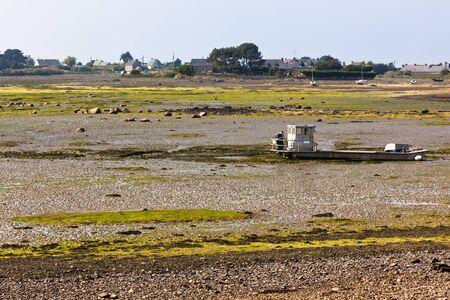 ebb: Ebb Landscape w zachodniej Bretanii. Pozioma strzał
