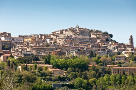 Overview of Perugia landscape, Italy. Horizontal shot