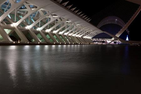 Valencia architectural complex City of Arts and Sciences (Ciudad de las Artes y las Ciencias) designed by Santiago Calatrava