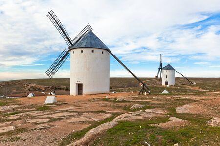 Old Spanish windmills, Campo de Criptana, Castilla la Mancha province, Spain photo