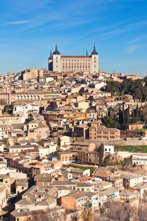 Castle El Alcazar over old Toledo town, Spain photo
