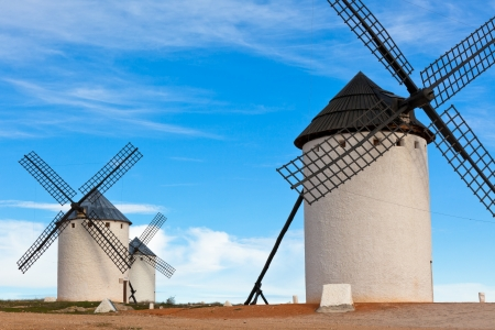 Old Spanish windmills, Campo de Criptana, Castilla la Mancha province, Spain photo
