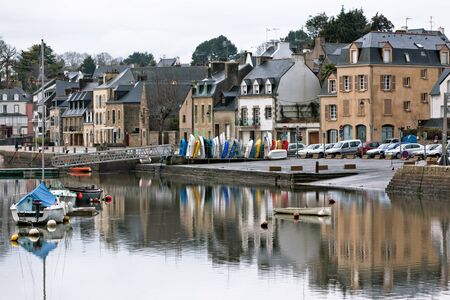 Auray town embankment - Brittany, France.  photo
