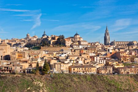 Old Toledo town view, Spain. Horizontal shot photo