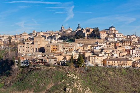 View of Old Toledo town, Spain. Horizontal shot photo