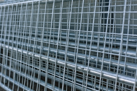 re design: Re-bar Metal Grid. Abstract steel design. Stock Photo
