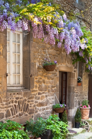 French house front porch. Vertical shot Stock Photo - 15986990