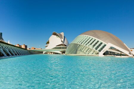 Valencia architectural complex City of Arts and Sciences (Ciudad de las Artes y las Ciencias) designed by Santiago Calatrava Stock Photo - 16507097