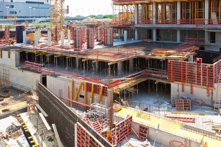 Modern Office Building Construction Site. Horizontal shot Stock Photo - 16573302