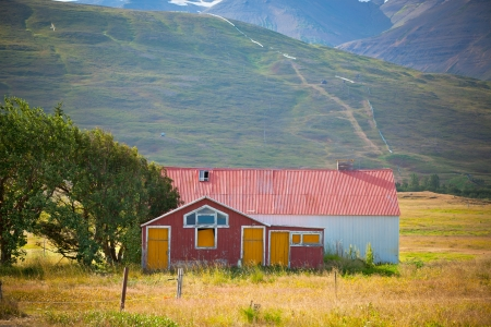 Abandoned House at North Iceland foothill  Horizontal shot Stock Photo - 16679609
