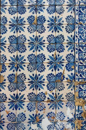 Azulejo - Old Ceramic Tile Background from building facade in Lisbon, Portugal Stock Photo - 16928365
