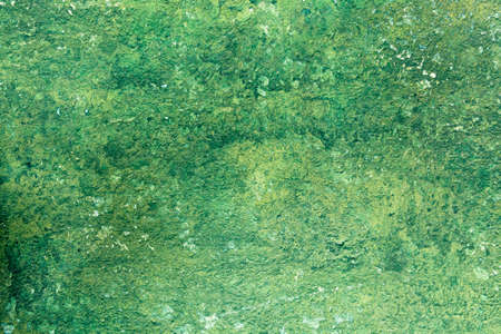 Old Peeling Green Paint Wall Background. Horizontal shot Stock Photo - 17032854