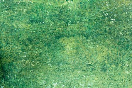 Old Peeling Green Paint Wall Background. Horizontal shot Stock Photo - 17032854