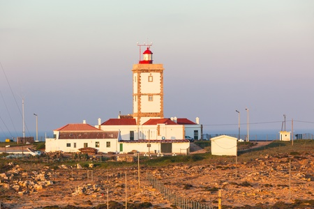 Cape Carvoeiro lighthouse in Peniche, Portugal. Morning shot Stock Photo - 17546918