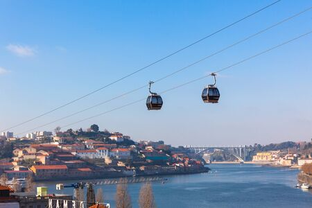 Cable Car Cabins in Porto (Vila Nova de Gaia), Portugal photo