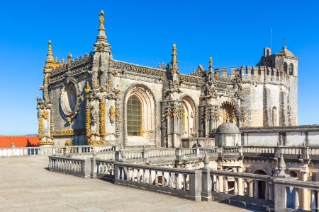 Knights of the Templar (Convents of Christ) castle detail, Tomar, Portugal