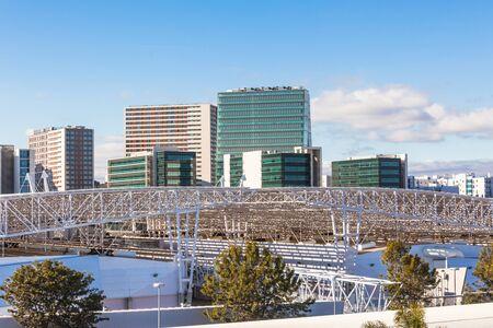 Expo district, Lisbon, Portugal. Horizontal shot