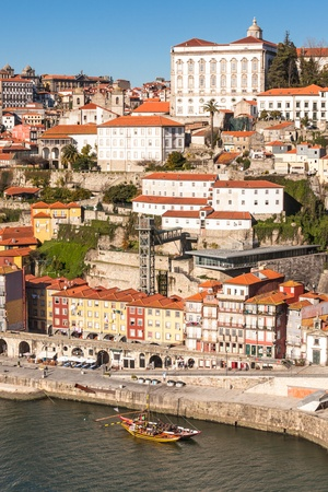 Overview of Old Town of Porto, Portugal  Ribeira and Douro river Stock Photo - 18332070