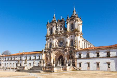 ribatejo: Monastery of Santa Maria - Mosteiro De Santa Maria, Alcobaca, Portugal Editorial