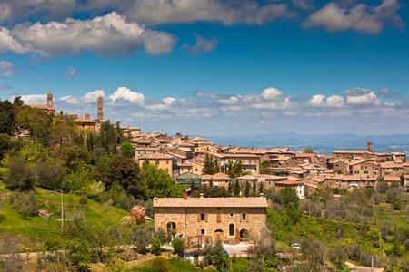 montalcino: Famous Tuscan wine town of Montalcino view, Italy