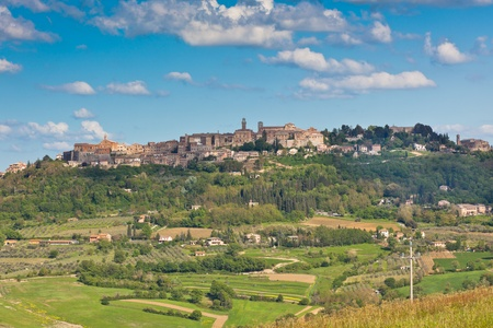Montepulciano town view, Tuscany, Italy. Horizontal shot Stock Photo - 18402877
