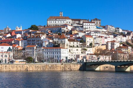 Coimbra, Portugal, Old City View  Sunny Blue Sky Stock Photo - 18515919