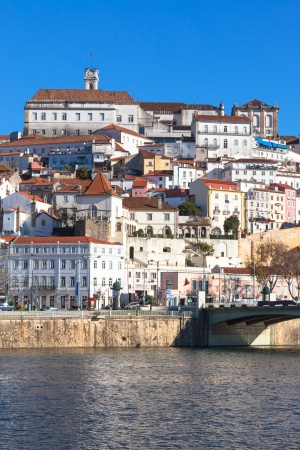 Coimbra, Portugal, Old City View  Clear Sunny Blue Sky