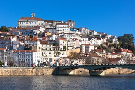 Coimbra, Portugal, Old City View. Clear Sunny Blue Sky Stock Photo - 18515936