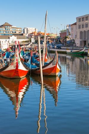 Aveiro gondolas. Aveiro is a city in Aveiro Municipality in Portugal photo