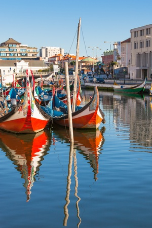 Aveiro gondolas. Aveiro is a city in Aveiro Municipality in Portugal