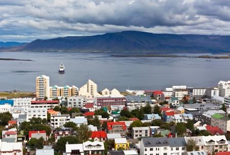 Capital of Iceland, Reykjavik, view from the Hallgrimskirkja Church photo