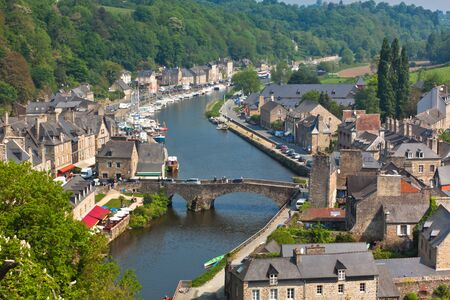 Dinan (Cotes-d'Armor, Brittany, France) - Ancient town on the river Stock Photo - 18987622