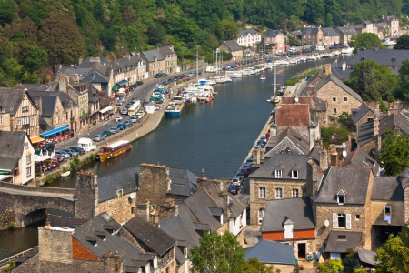 Dinan (Cotes-d'Armor, Brittany, France) - Ancient town on the river Stock Photo - 18987612