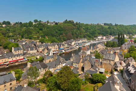 Dinan (Cotes-d'Armor, Brittany, France) - Ancient town on the river Stock Photo - 18987634