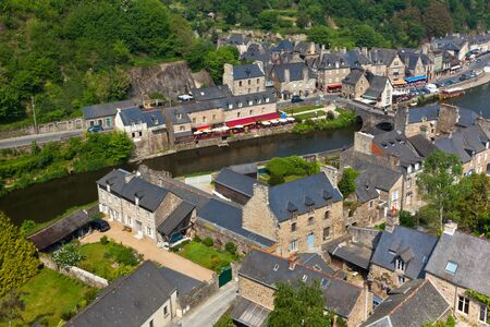 Dinan (Cotes-d'Armor, Brittany, France) - Ancient town on the river Stock Photo - 18987632