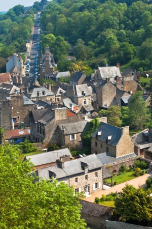 Dinan, Cotes-d'Armor, Brittany, France view. Vertical shot Stock Photo - 18987675