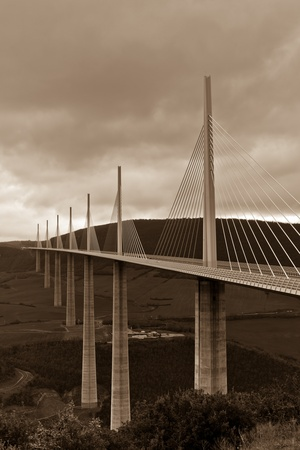millau: The Millau Viaduct is a motorway bridge which spans the River Tarn valley near Millau in France