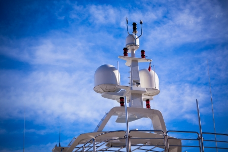 Communication and safety equipment onboard yacht photo