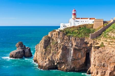 Lighthouse of Cabo Sao Vicente, Sagres, Portugal - Farol do Cabo Sao Vicente  built in october 1851