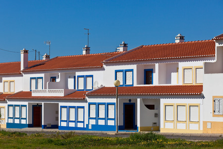 rooftile: Unrecognizable Residential House at Algarve, Portugal Stock Photo