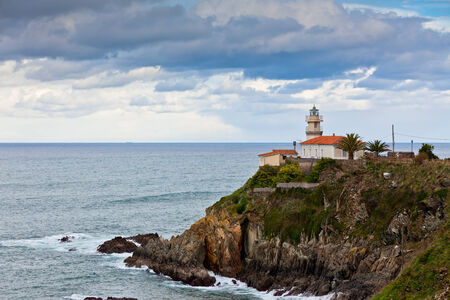Lighthouse of Cudillero, Asturias, Northern Spain  Horizontal shot