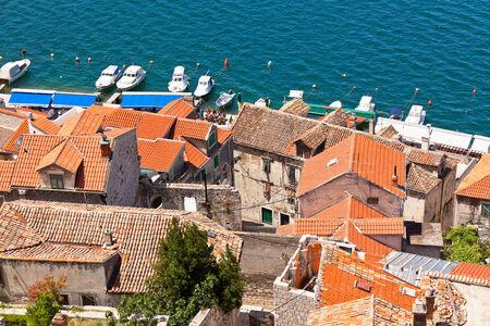 Old Stone Buildings of Sibenik, Croatia  Horizontal shot