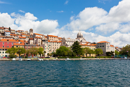 Sibenik is a historic town and harbour on the Adriatic coast in Croatia