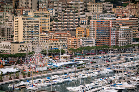 monte carlo: Monaco Harbour, Monte Carlo, view. Horizontal shot Stock Photo