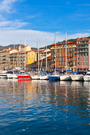 nice house: View on Port of Nice and Luxury Yachts, French Riviera, France
