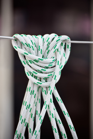 lifeline: A mooring rope with a knotted end tied around a lifeline