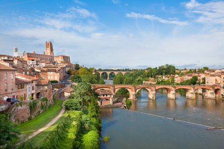 View of Albi, France. Horizontal shot