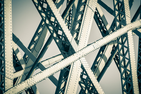 the structures: Modern Bridge frame closeup. Filtered image